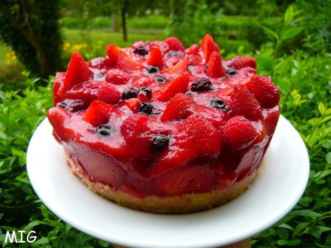 Un petit air de charlotte pour un cheesecake très estival
